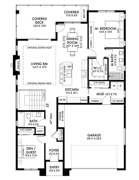 House Plan 80505 Ranch Style with 2306 Sq Ft 4 Bed 2
