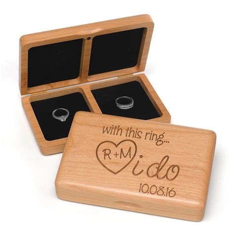 i do personalized wedding ring box for ceremony
