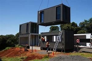 Une maison container de luxe avec des finitions