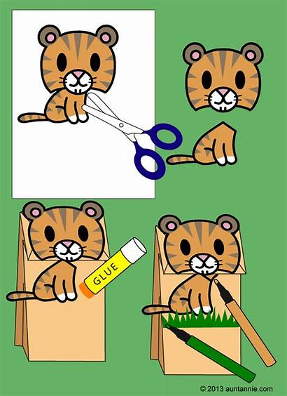 Clip Puppets Bag Clipart Craft Fun Easy