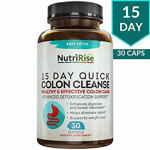 Colon Cleanser Detox For Weight Loss  15 Day Fast