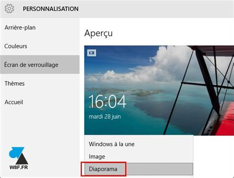 windows 8 icone bureau windows 10 mettre un diaporama en écran de verrouillage