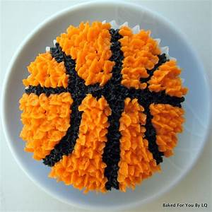 Basketball Cupcakes Baked for You