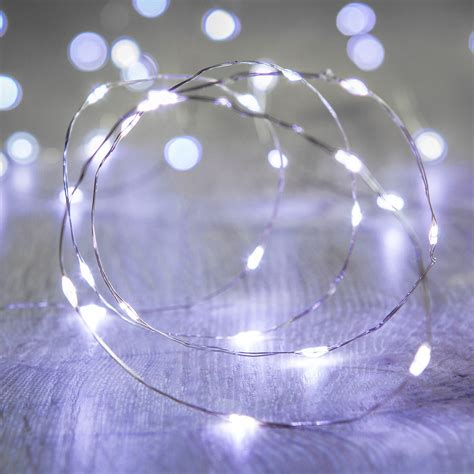 20 white led micro battery fairy lights lights4fun co uk