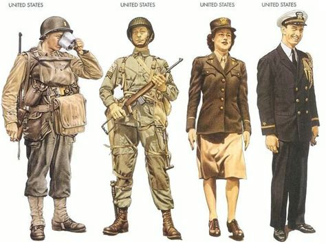 united states army uniforms in world war ii vintage