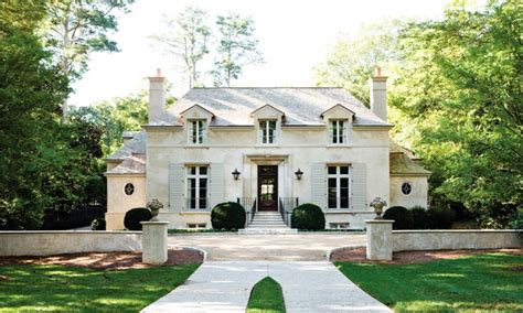 French Country House Exteriors White French Country Home