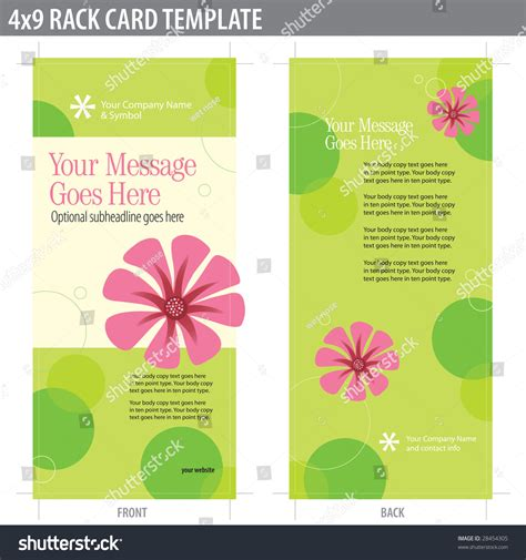 2 Sided Brochure Templates by 4x9 Two Sided Rack Card Brochure Includes Crop Marks