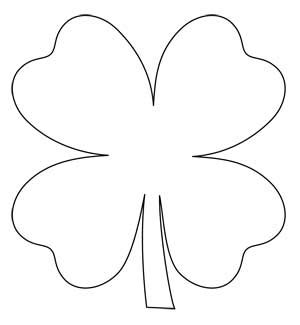 clover template shamrock chain free four leaf clover applique pattern the quilting company