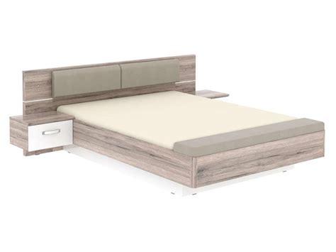 chambre à coucher chez conforama lit adulte 140x190 cm 2 chevets suspendus led dolce