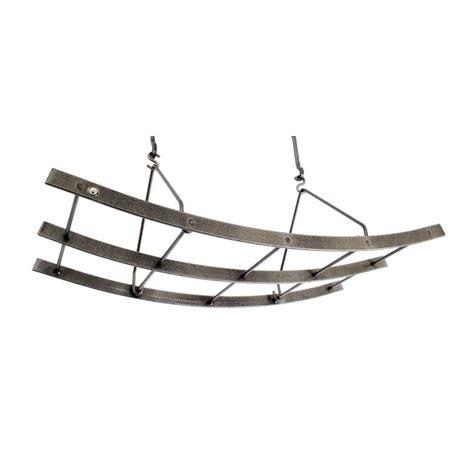 home depot pot rack enclume premier reversible arch ceiling pot rack in