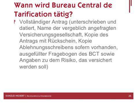 bureau de tarification bureau central de tarification frais bureau central de