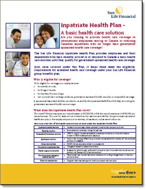 sun life financial inpatriate health plan