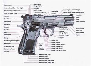 A Cutaway View Of A Smith  U0026 Wesson Model 39 Semi