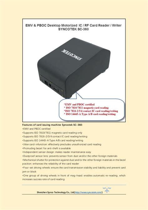 EMV Magnetic Desktop Card Reader Syncotek SC-360