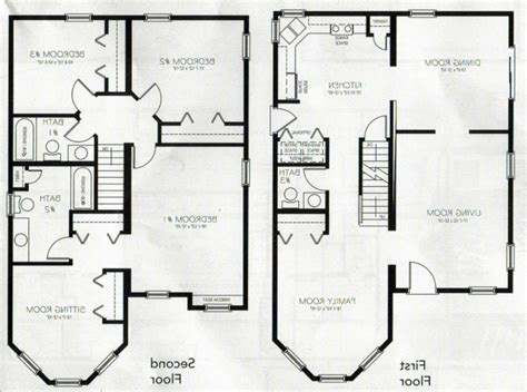 fresh house plans two story house floor plans 3 bedroom 2 bath 2 story fresh
