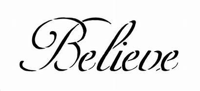 Believe Stencil Word Stencils Printable Words X5