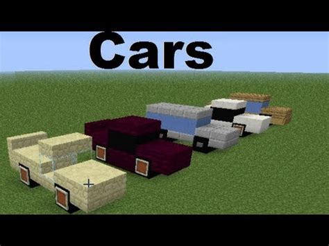 minecraft working car minecraft vehicles cars eng subs youtube