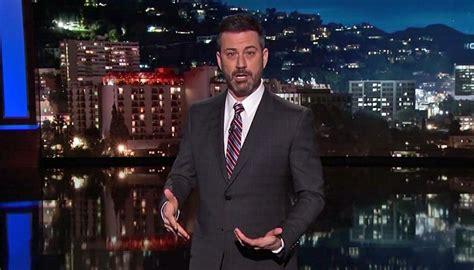 kimmel jimmy trump monologue florida newshub emotional cries calls shooting