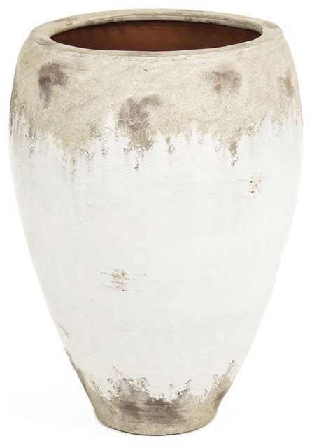 siena large white rustic distressed white ceramic wide top