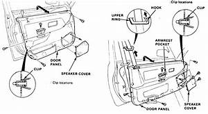 1990 Honda Civic  The Driver Side Door Latch Mechanism