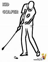 Coloring Golf Pages Golfer Boy Golfers Yescoloring Boys Course Gallant Clubs Ic sketch template