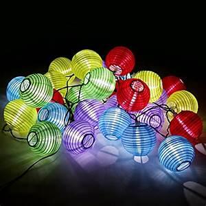 Solar Lichterkette Lampions : bunte solar lichterkette lampion gartenbeleuchtung solarlampen in drei verschiedenen l ngen von ~ Buech-reservation.com Haus und Dekorationen