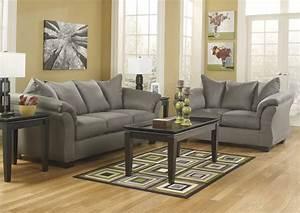 Harlem Furniture Darcy Cobblestone Sofa Loveseat
