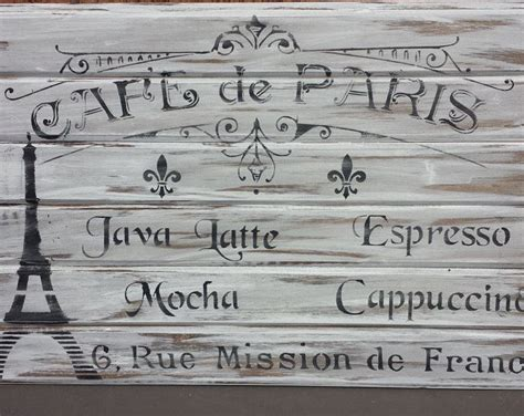 Therefore, the first outlet wil be a old small french food truck, customized with the company's graphic identity. COFFEE SHOP SIGN/Cafe Paris Sign/Eiffel Tower Sign/Kitchen Sign/Dining Sign/Paris Decor/Fleur de ...