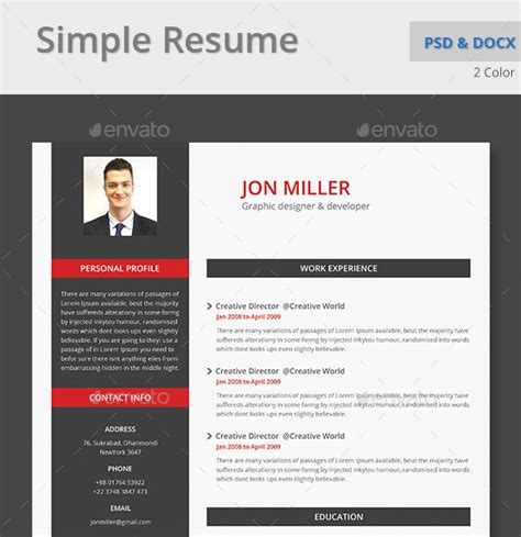 Microsoft Word Cv Template by Top 10 Professional Microsoft Word Cv Templates Custom Made