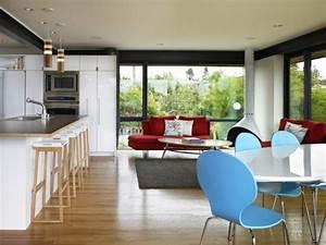 Küche Und Wohnzimmer In Einem Kleinen Raum : wohnzimmer und k che in einem raum kombiniert klug und praktisch ~ Markanthonyermac.com Haus und Dekorationen