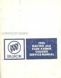 free car repair manuals 1985 buick electra regenerative braking 1985 buick park avenue electra preliminary repair shop manual