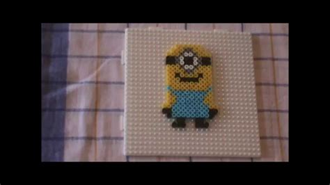 perler beads idea minion buegelperlen vorlage hama youtube