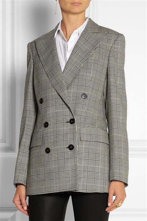 stella mccartney prince  wales check stretch wool double