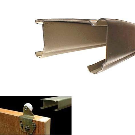 kitchen cabinet sliding door hardware johnson hardware 58 quot steel bypass track goldtone 1138g60 7950