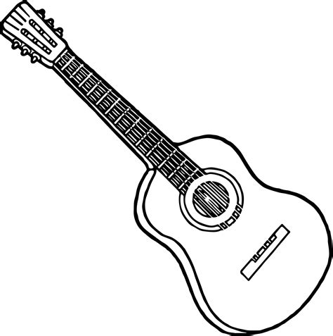 strings guitar the guitar coloring page