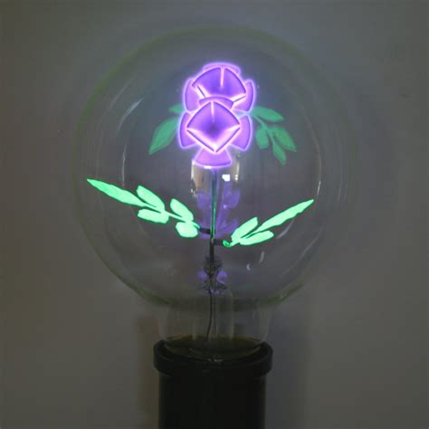 flowers in light bulbs damar 56007 quot violet flower quot g25 medium base