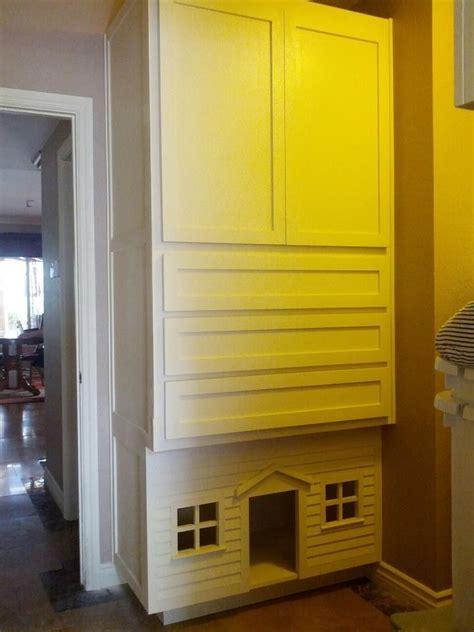 handmade laundry room linen closetdog house  custom