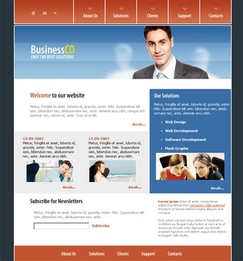 business leads webpage template  business