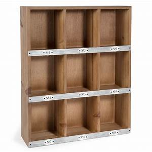 Storage Wooden Shelf With 9 Compartments  H 50cm