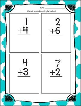 touch math single digit addition worksheet touch math worksheets single digit no regrouping