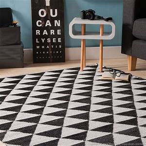 decorationcom tapis en plastique losanges noir et blanc With tapis en plastique