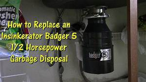 How To Replace An Insinkerator Badger 5 Garbage Disposal