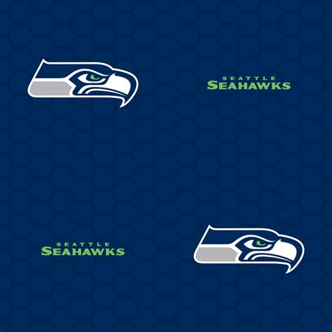 seattle seahawks logo pattern blue officially
