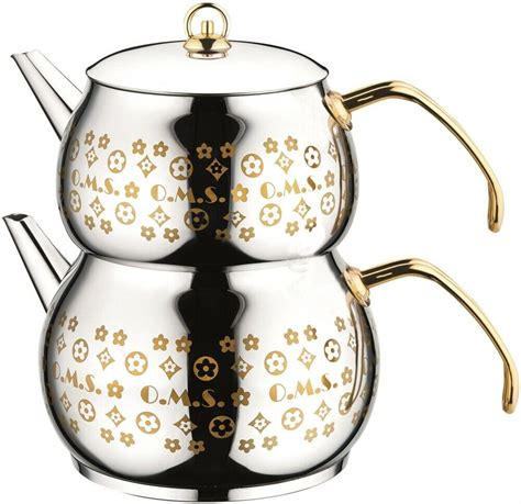 pot tea twin steel teapot kettle coffee stainless stove litre views
