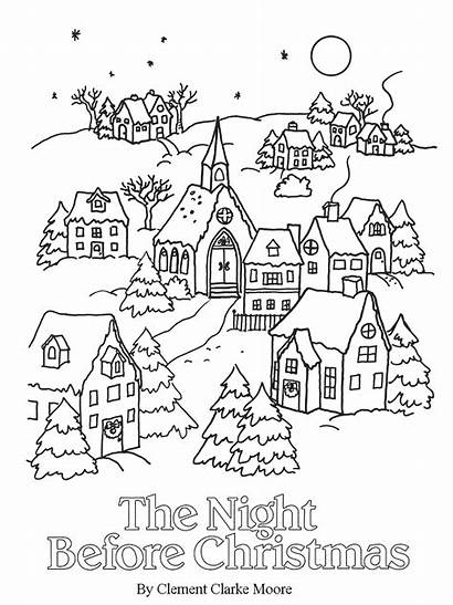 Coloring Christmas Pages Night Before Books Printable