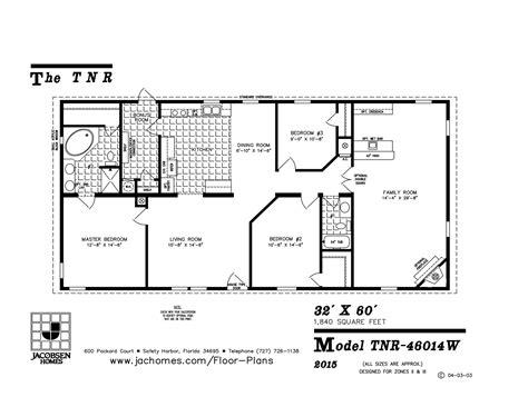 tnr  mobile home floor plan ocala custom homes