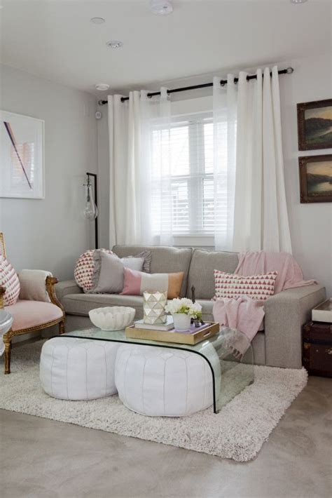 Wohnzimmer Rosa Grau by 44 White Pink Living Room Best 10 Pink Living Rooms Ideas