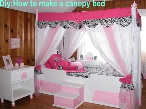 canopy beds girls diy how to make your own canopy bed