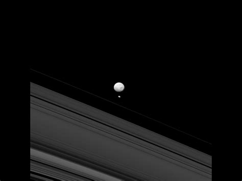Saturn's moons Mimas and Pandora | Deskarati
