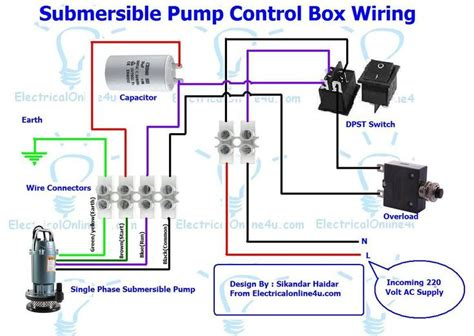 Submersible Pump Control Box Wiring Diagram For Wire
